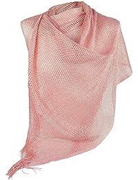 129f61775259 Emila Stola cerimonia coprispalle elegante con frange a rete foulard  scialle grande lurex da matrimonio per
