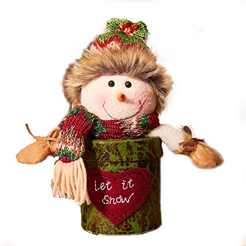 (Ouken Heiligabend Apple Geschenk Candy Verpackungskarton Models Weihnachtsschneemann-Apple-Box)