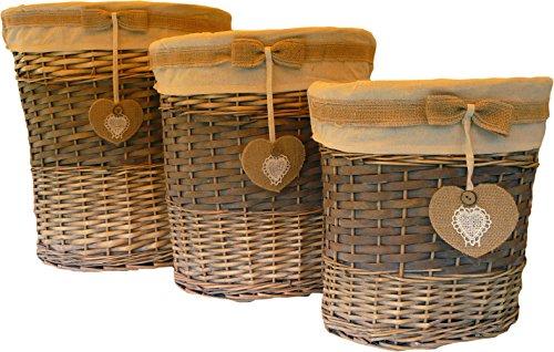 Bagno Lavanderia Piccolo : Set pezzi cesti portabiancheria porta oggetti per bagno