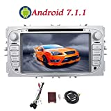 Android 7.1 Auto GPS-Navigation Double 2 Din 7 Zoll HD Touch Screen in Schlag-Auto-DVD-CD-Stereo-Spieler f¨¹r Ford Focus 2009 2010 2011 2012 mit Quad-Core 1.6GHz Prozessor 1 GB + 16 GB ROM + Free CANBUS