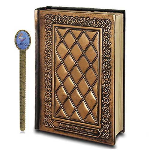 512nhUAQZPL - NO.1 BEAUTY# Liying Vintage Embossed Leather Hardcover Notebook Personal Diary Bronze Plain Blank Travel Writing Journal SketchbooK Scrapbook Drawing Diary Reviews Best Buy