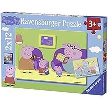 Ravensburger - 07596 - Puzzle - En casa Peppa Pig - 2 x 12 piezas