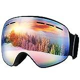 Mpow Skibrille Snowboard Brille Doppel-Objektiv UV-Schutz Anti-Fog Skibrille Für Damen Und Herren Jungen Und Mädchen