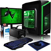 "VIBOX Killstreak VRR564-110 VR Gaming PC con Oculus Rift, Cupón de juego, Windows 10 OS, 22"" HD Monitor (3,6GHz AMD Ryzen 6-Core Procesador, Radeon RX Vega 64 Tarjeta Grafica, 8GB DDR4 RAM, 1TB HDD)"