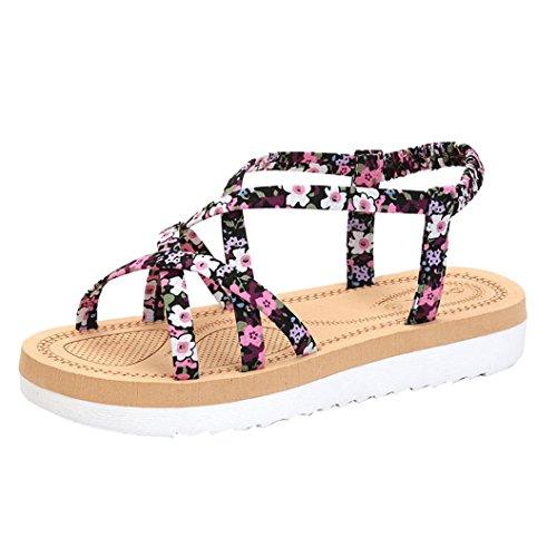 Hunpta Sommer Mode Frauen Flip Flops Strand Sandalen String Bands flache Schuhe Rosa