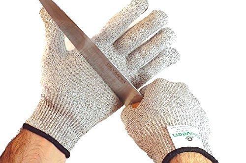 Schnittschutz Handschuhe – Küchensicherheit Handschuhe Messer und Mandolin Schutz – Schutz vor Schnitten und Stichen – Hochwertige Performance Statistik EN388 Slash CE Level 5 – Waschbar und für Lebensmittel geeignet, Gute Multitasking Arbeitshandschuhe - kostenloses Ebook.