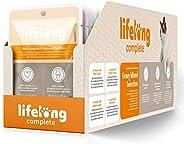 Marchio Amazon - Lifelong Alimento completo per gatti adulti- Selezione mista in salsa, 2,4 kg (24 sacchetti x
