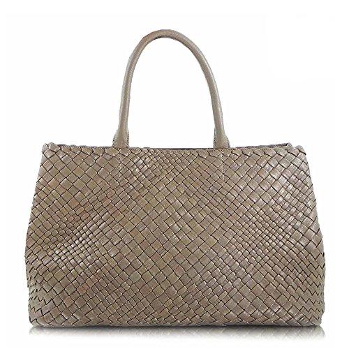 ghibli-luxus-italienischer-handgewebter-lederner-grosser-totebeutelbeutel-handtasche-taupe