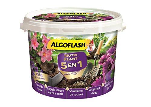 ALGOFLASH Nutri Plant 5 en 1 avec engrais, Jusqu'à 50 plants, 1.5 kg, ATOP15