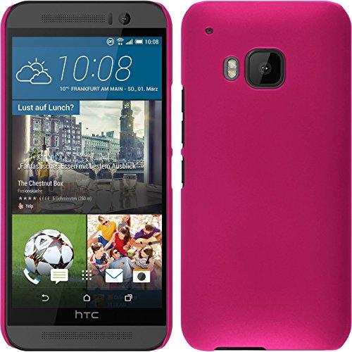 PhoneNatic Case für HTC One M9 Hülle pink gummiert Hard-case für One M9 + 2 Schutzfolien
