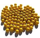 CRYSTAL KING Goldene Matt Gold Glasmurmeln Glaskugeln 16mm Durchmesser 500gr Dekokugeln Murmeln Murmel Gold farbene goldene M