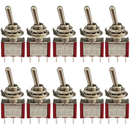 KINYOOO® 10 Piezas Mini Interruptor de Palanca