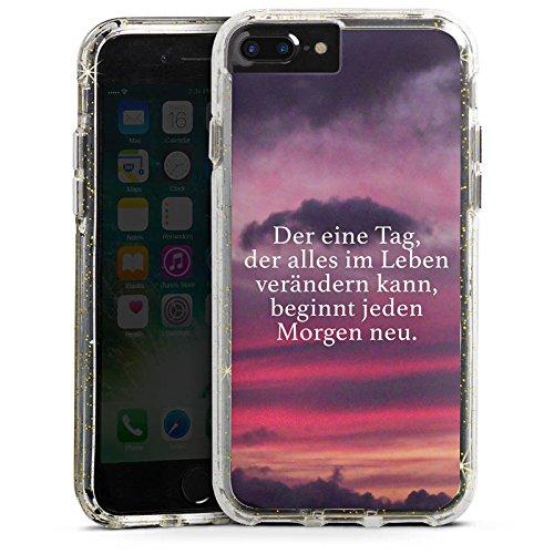 Apple iPhone 8 Bumper Hülle Bumper Case Glitzer Hülle Sprüche Phrases Sayings Bumper Case Glitzer gold