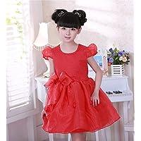 QTONGZHUANG Kleid Kleid Kinderkleidung Frühjahr und Herbst langärmeligen Hochzeitskleid Koreanischen Blumenmädchen