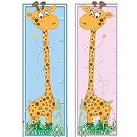 grace GIRAFFE HEIGHT CHART Art Decal Removable Vinyl Wall Sticker For children