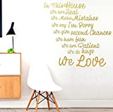 Giant in This House...???Rules Family Smile Love Home Life Wandbild Stikers, inspirierendes Zitat, Motivation Aufkleber