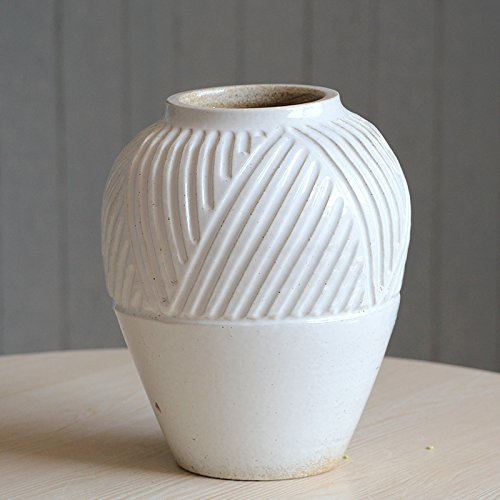 WDHP Um Alte Retro - Vase White Mesa Vase, 21Cm