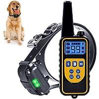 Collar de Entrenamiento de Perro, Recargable e Impermeable electrónico Perro Entrenador de la operación de Ciego Collar controlado con Tono/vibración /Light