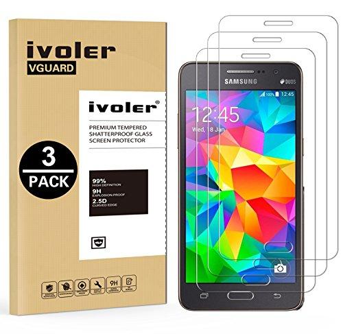 iVoler [3 Pack] Vetro Temperato Compatibile con Samsung Galaxy Grand Prime G530 [Garanzia a Vita], Pellicola Protettiva, Protezione per Schermo