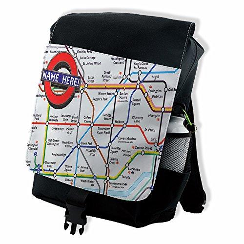 personalised-london-underground-st358-black-backpack-school-rucksack-overnight-travel-gym-pe-laptop-
