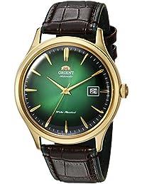 """'Orient """"Bambino 4clásica automático con cuerda manual Oro Reloj Verde fac08002F"""