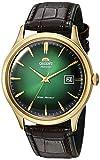 'Orient 'bambino 4classico Automatico con mano ascensore oro orologio verde fac08002F