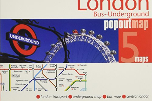 Popout Map London Bus-Underground (Popout Maps) (City London Map)