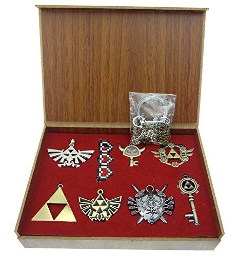 Collezione di pendenti | Gioielli di ZELDA| 8 pezzi | Accessori Pesonaggi Fantasia Regali Bambini by RIVENBERT