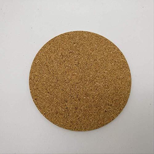 DDLLJ Cork Bowl Mat Anti-Rutsch-Isolier Runde Kaffeetasse Pad Blank Untersetzer Set von 6 10Cm Rundschreiben - Cork Bowl