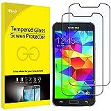 JETech  Samsung S5 Film Protection en Verre trempé écran protecteur ultra résistant Glass Screen Protector pour Samsung Galaxy S5