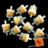 HURI 10 x Universal Kraftstofffilter 6mm 8mm Benzinfilter Filter Motorrad Auto Roller