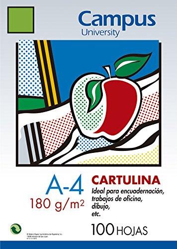 100x Karton Campus A4180gr/m² Basteln Zeichnung Grün Billard