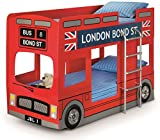 Julian Bowen London Bus Bunk Bed - UK Single, Red
