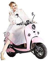 Très Chic Mailanda - Veste de pluie / poncho imperméable avec capuche à la mode pour femmepour faire du vélo ou de la moto taille unique rose bonbon
