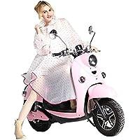 Très Chic Mailanda - Chubasquero de mujer, poncho de lluvia con capucha impermeable, chubasquero moderno, ropa de lluvia para bicicleta o moto, color rosa, tamaño talla única
