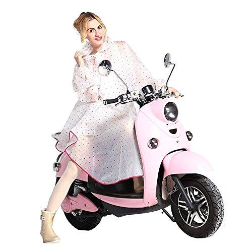 Lluvia Para Chaquetas de mujer Lluvia Poncho con capucha impermeable Chubasquero Moderno de ropa para bicicleta de lluvia Moto–Très Chic Mayo Landa, color rosa, tamaño talla única