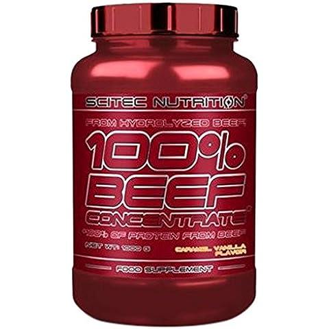 100% BEEF CONCENTRATE - Scitec Nutrition - Proteine della Carne 2Kg Caramello Vaniglia