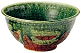 Tokusa Oribe Mino yaki 15cm Ricebowl Green Ceramic Made in Japan