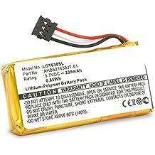 CELLONIC® Batería premium (230mAh) para T630 Touch Mouse, Logitech H600 Wireless Headset (981-000341) 1311,533-000069,533-000071,AHB521630PJT-01 bateria de repuesto, pila reemplazo, sustitución
