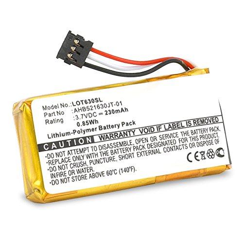 Cellonic Qualitäts Akku (230mAh) für T630 Touch Mouse, Logitech H600 Wireless Headset (981-000341) 1311,533-000069,533-000071,AHB521630PJT-01 Notebookakku Laptopakku Ersatzakku Batterie
