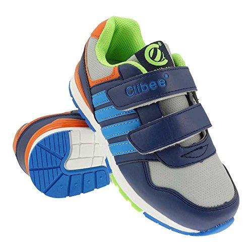 GALLUX - Kinder Sneaker Schuhe tolle bunte Turnschuhe Blau-Grau