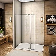 60x200cm Walkin Duschkabine Duschabtrennung 8mm Nano Glas Duschwand Dusche  Mit Kleine Seitenwand 30cm