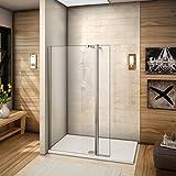 80x200cm Walkin Duschkabine Duschabtrennung 8mm Nano-glas Duschwand Dusche mit kleine Seitenwand 30cm