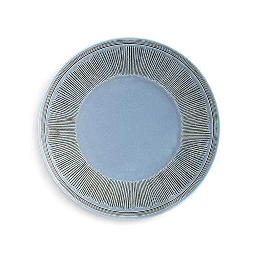 CJW Assiette à vaisselle en céramique - personnalité simple vent nordique 8 pouces -10 pouces (Color : Purple, Taille : 27cm)