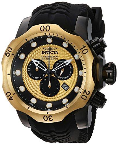 INVICTA Venom Herren-Armbanduhr Armband SILIKON SCHWARZ Schweizer Quarz 20444 (Männer Venom Für Uhren Invicta)