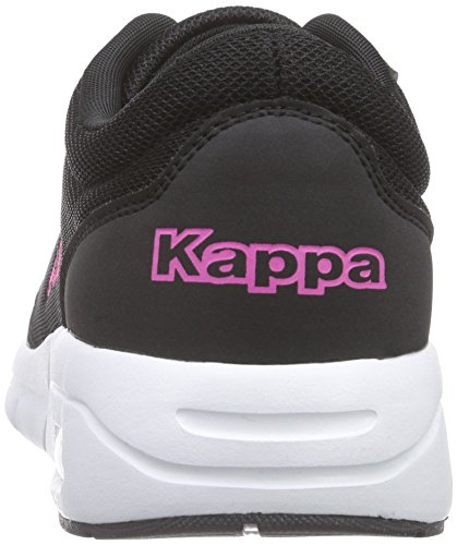 Kappa Unisex-Erwachsene Melo Low-Top Schwarz (1122 BLACK/PINK)