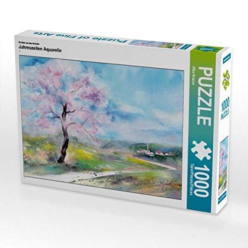 Ein Motiv aus dem Kalender Jahreszeiten Aquarelle 1000 Teile Puzzle quer Preisvergleich
