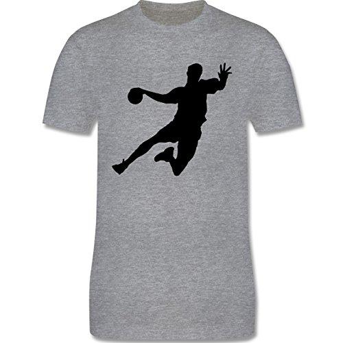 Handball - Handball - Herren Premium T-Shirt Grau Meliert