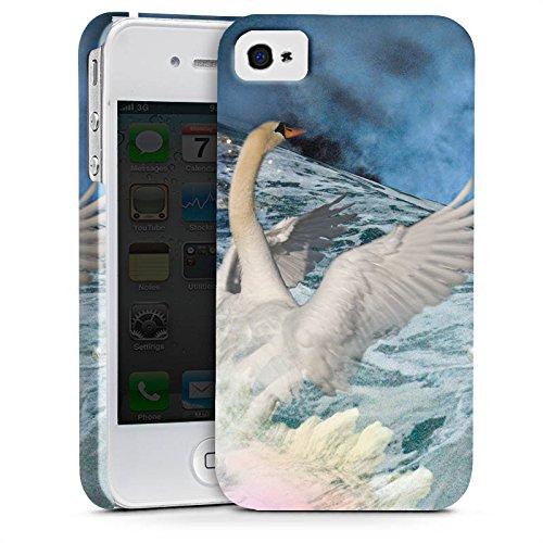 Apple iPhone X Silikon Hülle Case Schutzhülle Schwan Collage Kunst Premium Case glänzend