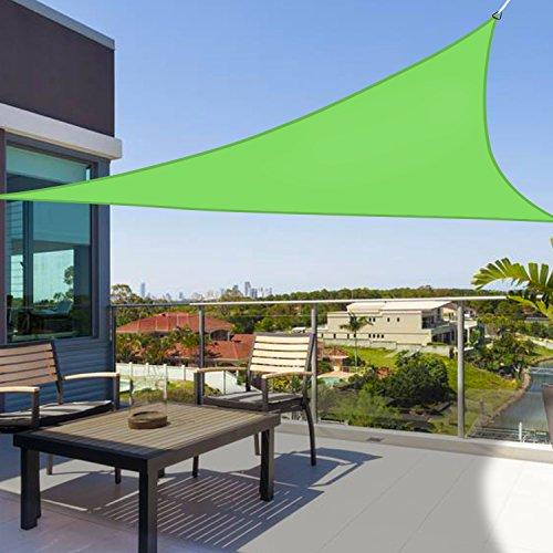 Greenbay - Dreieck 3.6x3.6x3.6m - Garten UV-beständig Sonnensegel Sonnenschutz Atmungsaktiv Schatten Segel für Balkon und Terrasse (Hellgrün) | Garten > Sonnenschirme und Markisen > Sonnensegel | Polyethylen - Stahl | Greenbay